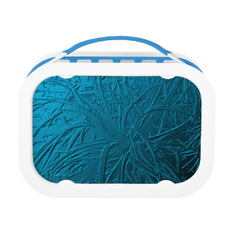 Blue Metallic Air Plant Relief Lunch Boxes