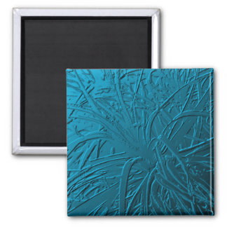 Blue Metallic Air Plant Relief Magnet