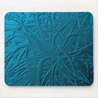 Blue Metallic Air Plant Relief Mouse Pad