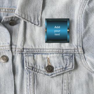 Blue Metallic and Gold Polka Dots | DIY Text Button