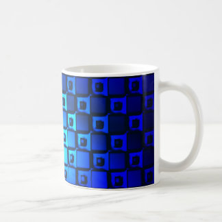 Blue Metallic Background Coffee Mug