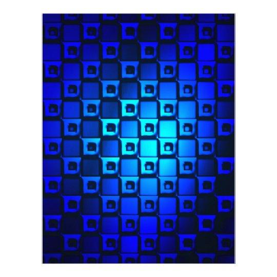 Blue Metallic Background Letterhead