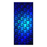 Blue Metallic Background Personalized Rack Card