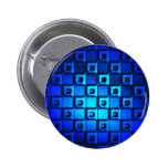 Blue Metallic Background Pinback Buttons