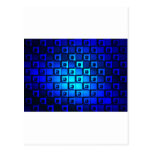 Blue Metallic Background Post Card