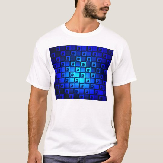 Blue Metallic Background T-Shirt