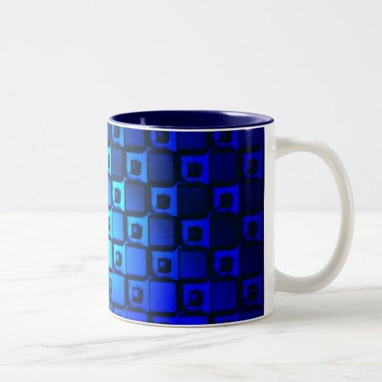 Blue Metallic Background Two-Tone Coffee Mug