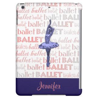 Blue Metallic Ballerina iPad Air Cover