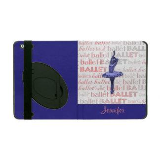 Blue Metallic Ballerina iPad Case