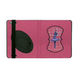 Blue Metallic Ballerina iPad Cover