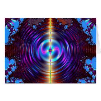 blue metallic greeting card