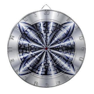 Blue Metallic Celtic Knot Original Art Dartboard With Darts