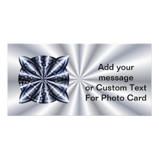 Blue Metallic Celtic Knot Original Art Customized Photo Card