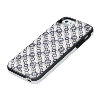 Blue Metallic Chain Pattern IPhone 5/5S Battery Ca iPhone SE/5/5s Battery Case