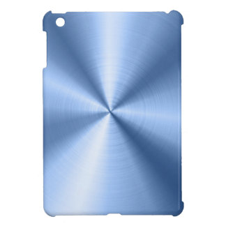 Blue Metallic Design Stainless Steel Look Cover For The iPad Mini