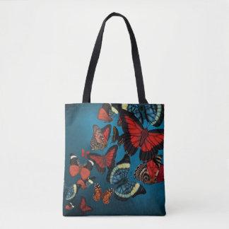 Blue Metamorphosis Butterflies Tote Bag