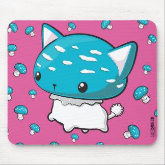 Blue Mewshroom Cat Kitty Mushroom Mouse Pad