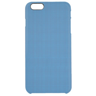 Blue Microdot Patterned Uncommon Clearly™ Deflector iPhone 6 Plus Case