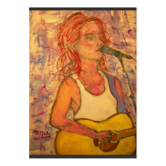 blue microphone songstress art large business card