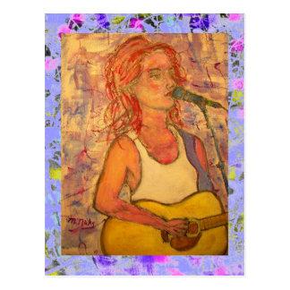 blue microphone songstress drip postcard