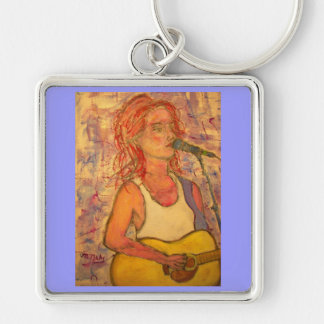 blue microphone songstress keychain