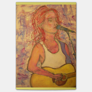 blue microphone songstress post-it notes