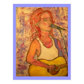 blue microphone songstress postcard