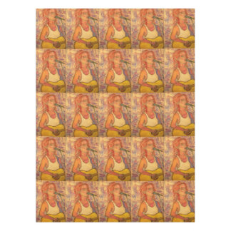 blue microphone songstress tablecloth