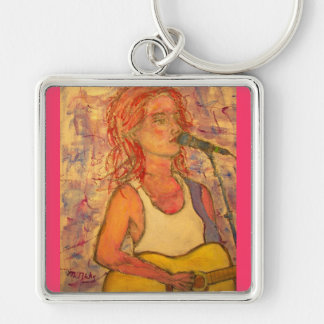 blue microphone songstress up close keychain