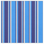 [ Thumbnail: Blue, Midnight Blue & Light Yellow Colored Lines Fabric ]
