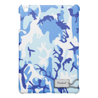 Blue Military Camouflage iPad Mini Cases