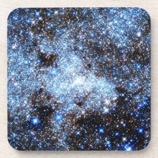 Blue Milky Way Galaxy Beverage Coaster