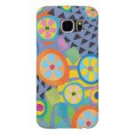 Blue Millefiori Abstract Garden Print Samsung Galaxy S6 Case