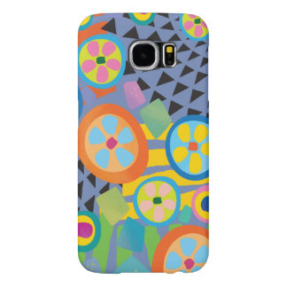 Blue Millefiori Abstract Garden Print Samsung Galaxy S6 Case
