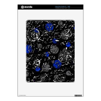 Blue mind iPad skin