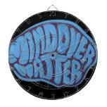 blue mind over matter dart board