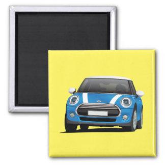 Blue MINI Cooper 2 Inch Square Magnet