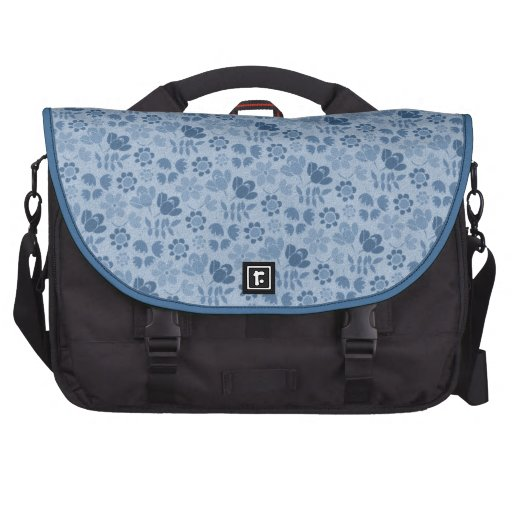 Blue Mini Flowers Commuter Bag