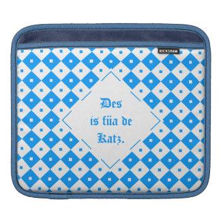 Blue mini Mali table knows iPad Sleeve
