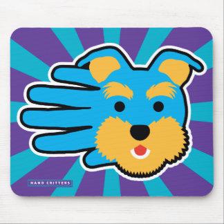 Blue Miniature Schnauzer Mouse Pad