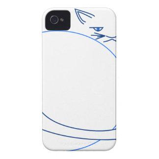 Blue Minimalist Cat (iPhone 4/s) iPhone 4 Cases