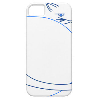 Blue Minimalist Cat (iPhone 5/s) iPhone SE/5/5s Case