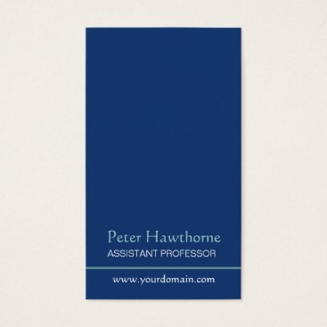 Professional Business Blue Minimalist Minimal Plain Professional Design Business Card