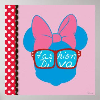 Blue Minnie | Diva Red Sunglasses Poster