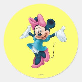 Blue Minnie | Welcoming Hands Up Classic Round Sticker