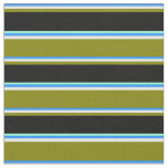 [ Thumbnail: Blue, Mint Cream, Green, Black & Aquamarine Lines Fabric ]