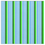 [ Thumbnail: Blue, Mint Cream, Lime, Dark Green, Light Sky Blue Fabric ]