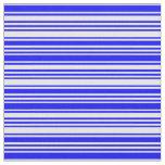 [ Thumbnail: Blue & Mint Cream Lined Pattern Fabric ]