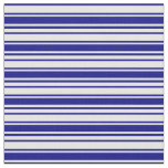 [ Thumbnail: Blue & Mint Cream Striped Pattern Fabric ]