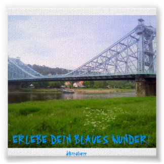 Blue miracle Dresden Poster